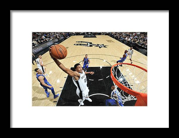 Nba Pro Basketball Framed Print featuring the photograph Rudy Gay by Mark Sobhani