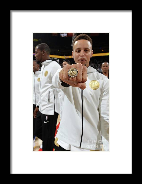 Nba Pro Basketball Framed Print featuring the photograph Stephen Curry by Andrew D. Bernstein