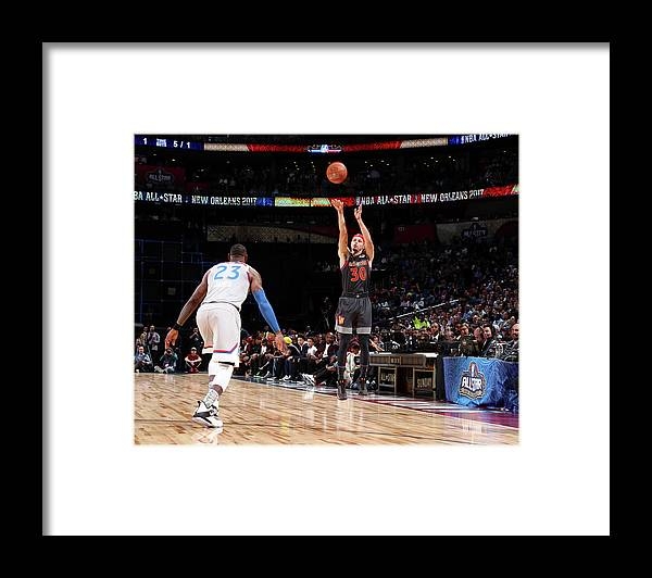 Event Framed Print featuring the photograph Stephen Curry by Nathaniel S. Butler