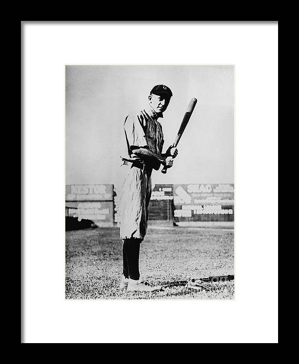 American League Baseball Framed Print featuring the photograph Ty Cobb by National Baseball Hall Of Fame Library