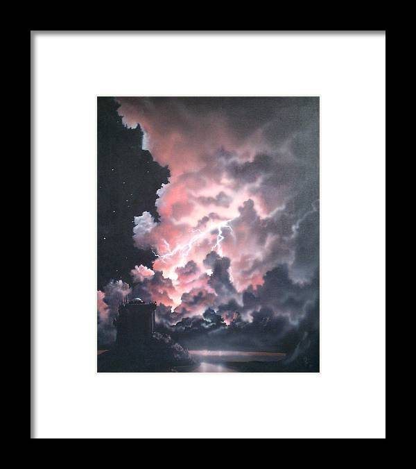 Castle Framed Print featuring the painting Untitled 6 by Philip Fleischer