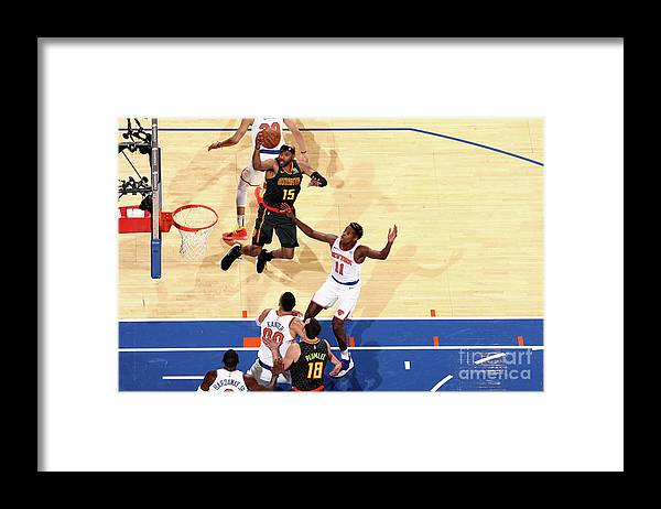 Nba Pro Basketball Framed Print featuring the photograph Vince Carter by Nathaniel S. Butler