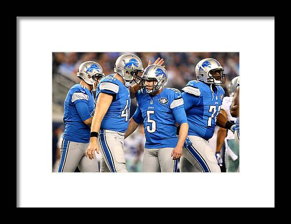 Playoffs Framed Print featuring the photograph Wild Card Playoffs - Detroit Lions v Dallas Cowboys by Ronald Martinez
