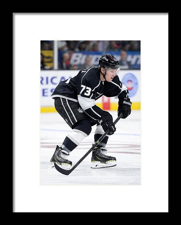 National Hockey League Framed Print featuring the photograph Winnipeg Jets v Los Angeles Kings by Harry How