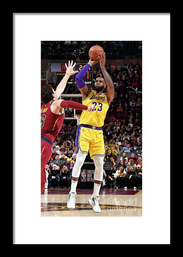 Nba Pro Basketball Framed Print featuring the photograph Lebron James by David Liam Kyle