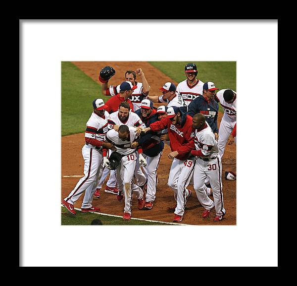 American League Baseball Framed Print featuring the photograph Alexei Ramirez by Jonathan Daniel