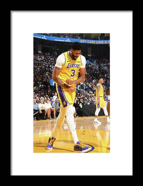 San Francisco Framed Print featuring the photograph Anthony Davis by Andrew D. Bernstein