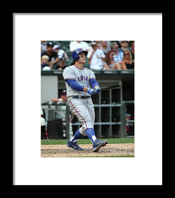 Following Framed Print featuring the photograph Anthony Rizzo by Jonathan Daniel