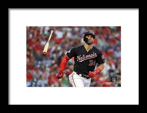 Second Inning Framed Print featuring the photograph Bryce Harper by Patrick Smith
