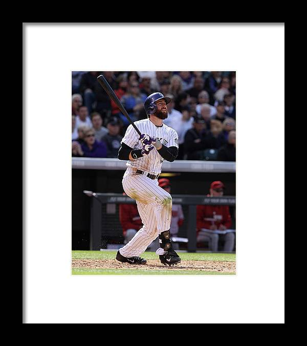 National League Baseball Framed Print featuring the photograph Charlie Blackmon by Doug Pensinger