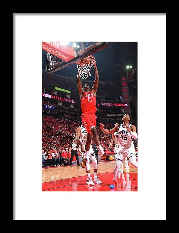 Playoffs Framed Print featuring the photograph Clint Capela by Bill Baptist