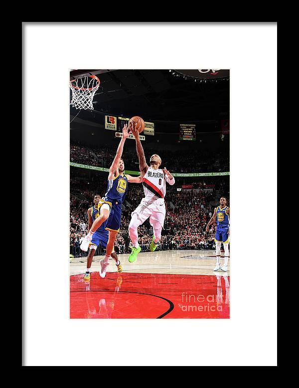 Nba Pro Basketball Framed Print featuring the photograph Damian Lillard by Andrew D. Bernstein