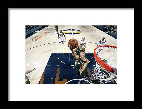 Nba Pro Basketball Framed Print featuring the photograph Dante Exum by Melissa Majchrzak