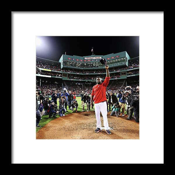People Framed Print featuring the photograph David Ortiz by Maddie Meyer