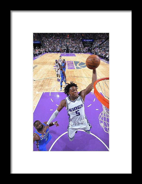 Nba Pro Basketball Framed Print featuring the photograph De'aaron Fox by Rocky Widner
