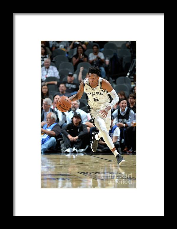 Nba Pro Basketball Framed Print featuring the photograph Dejounte Murray by Mark Sobhani