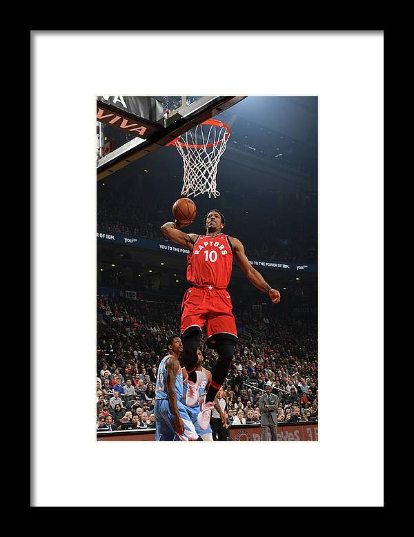 Nba Pro Basketball Framed Print featuring the photograph Demar Derozan by Ron Turenne