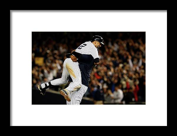 Ninth Inning Framed Print featuring the photograph Derek Jeter by Elsa