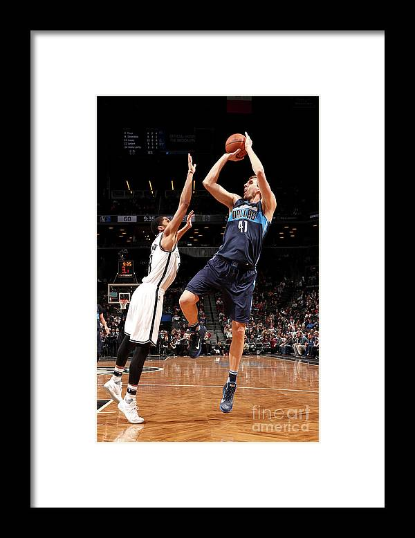 Nba Pro Basketball Framed Print featuring the photograph Dirk Nowitzki by Nathaniel S. Butler