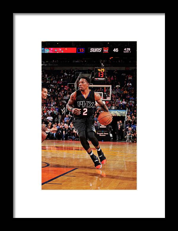 Nba Pro Basketball Framed Print featuring the photograph Eric Bledsoe by Barry Gossage