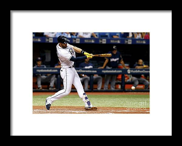 Double Play Framed Print featuring the photograph Evan Longoria by Brian Blanco