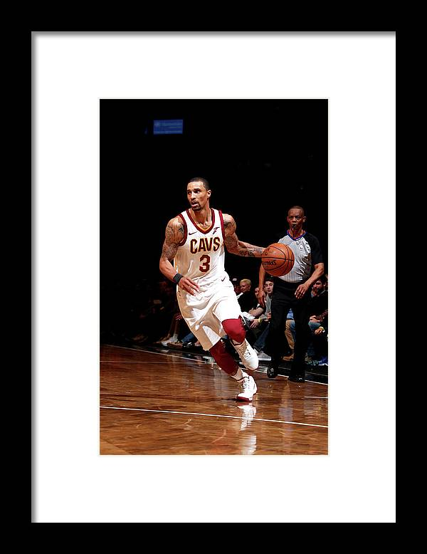 Nba Pro Basketball Framed Print featuring the photograph George Hill by Nathaniel S. Butler