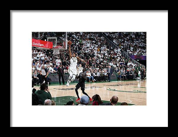 Playoffs Framed Print featuring the photograph Giannis Antetokounmpo by Nathaniel S. Butler