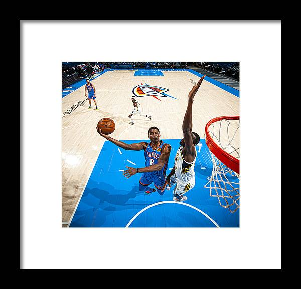 Nba Pro Basketball Framed Print featuring the photograph Indiana Pacers v Oklahoma City Thunder by Zach Beeker