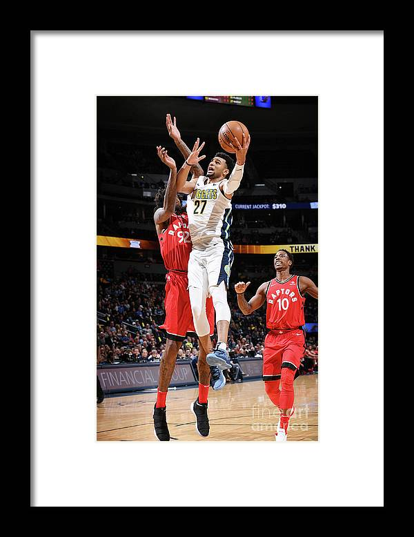 Nba Pro Basketball Framed Print featuring the photograph Jamal Murray by Garrett Ellwood