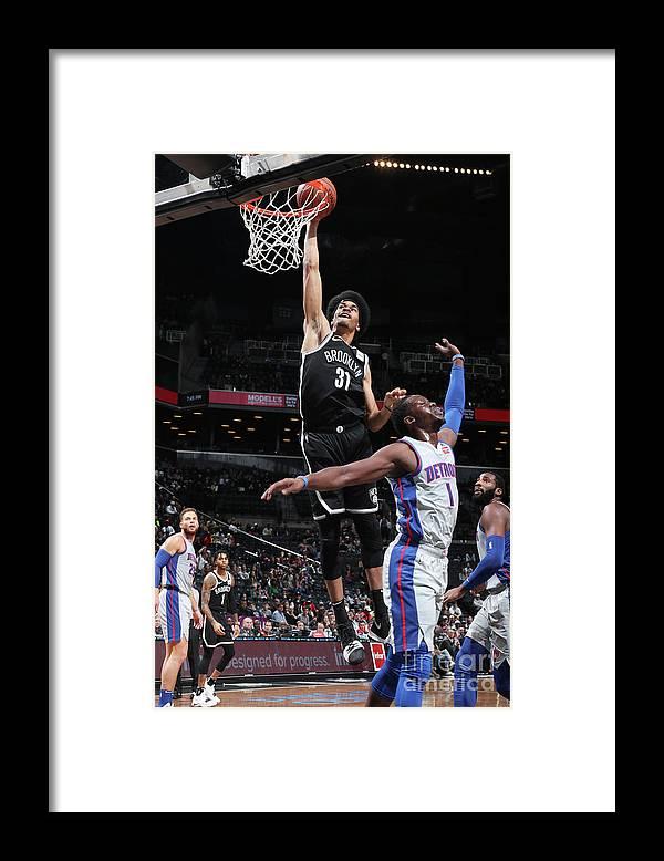 Nba Pro Basketball Framed Print featuring the photograph Jarrett Allen by Nathaniel S. Butler