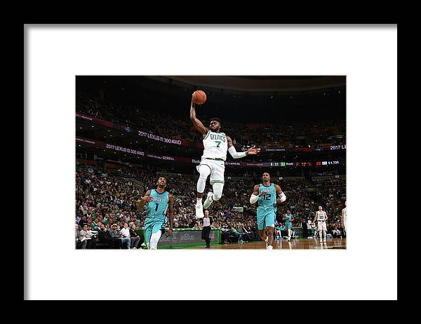 Nba Pro Basketball Framed Print featuring the photograph Jaylen Brown by Brian Babineau