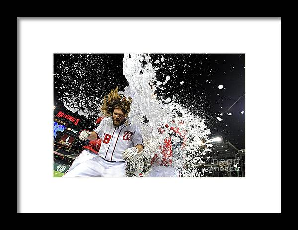 Ninth Inning Framed Print featuring the photograph Jayson Werth by Patrick Smith