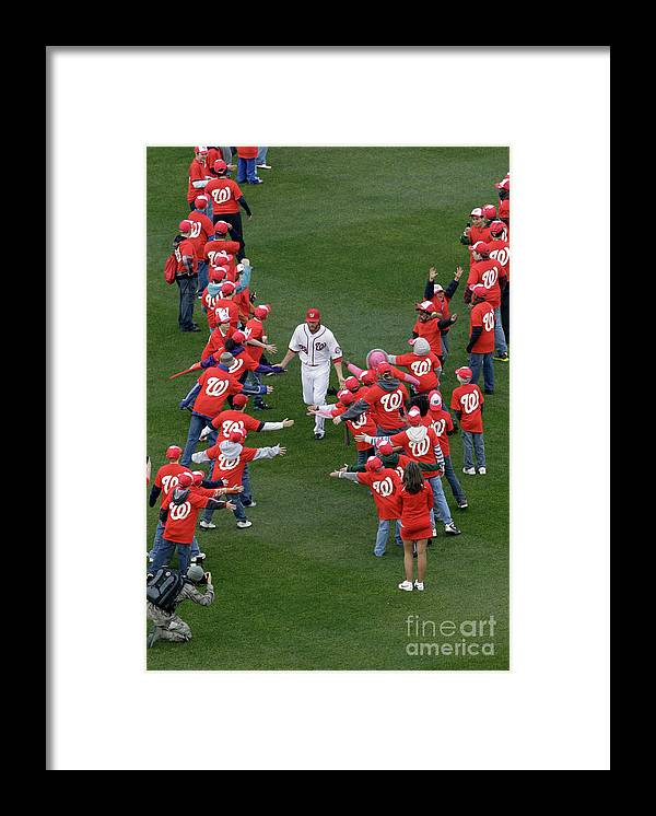 National League Baseball Framed Print featuring the photograph Jayson Werth by Rob Carr