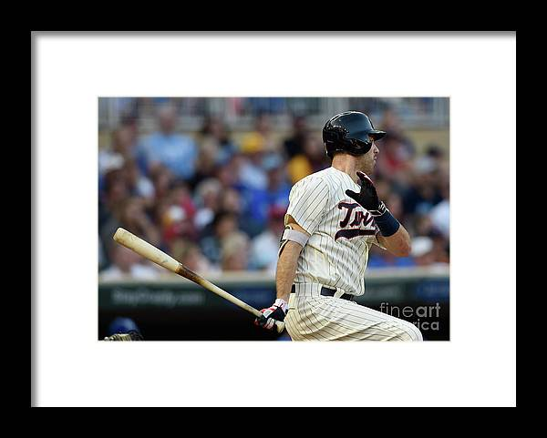 Second Inning Framed Print featuring the photograph Joe Mauer by Hannah Foslien