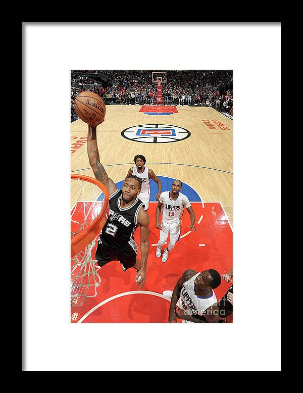 Nba Pro Basketball Framed Print featuring the photograph Kawhi Leonard by Andrew D. Bernstein