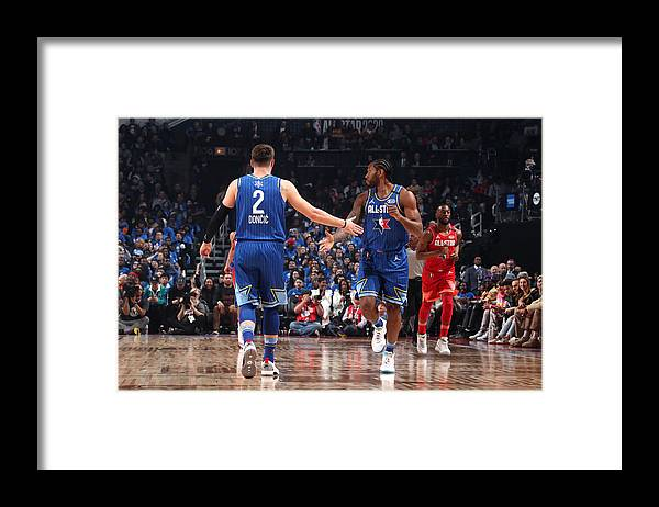 Nba Pro Basketball Framed Print featuring the photograph Kawhi Leonard by Nathaniel S. Butler