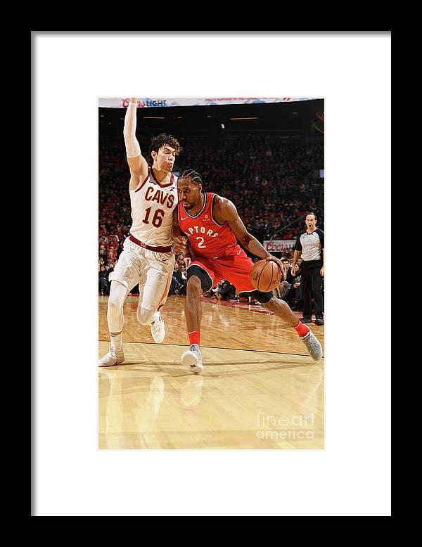 Nba Pro Basketball Framed Print featuring the photograph Kawhi Leonard by Ron Turenne
