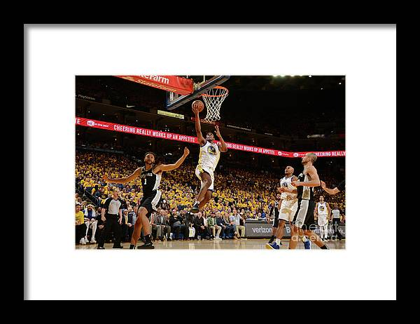 Playoffs Framed Print featuring the photograph Kevon Looney by Noah Graham