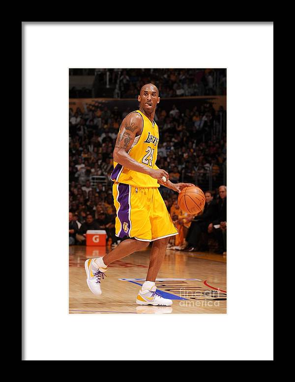 Playoffs Framed Print featuring the photograph Kobe Bryant by Noah Graham