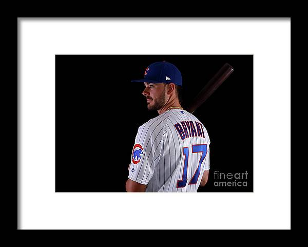 Media Day Framed Print featuring the photograph Kris Bryant by Gregory Shamus