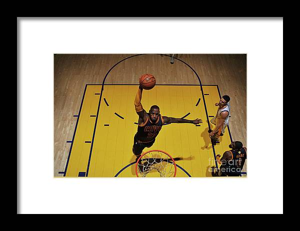 Playoffs Framed Print featuring the photograph Lebron James by Garrett Ellwood