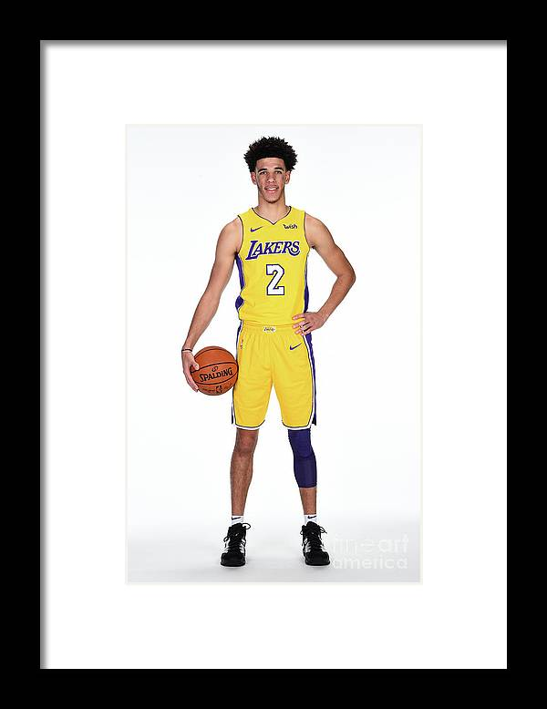 Media Day Framed Print featuring the photograph Lonzo Ball by Andrew D. Bernstein