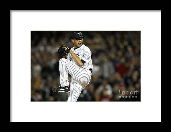 American League Baseball Framed Print featuring the photograph Mariano Rivera by Nick Laham
