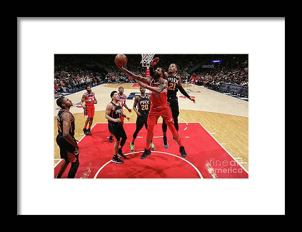 Nba Pro Basketball Framed Print featuring the photograph Markieff Morris by Ned Dishman
