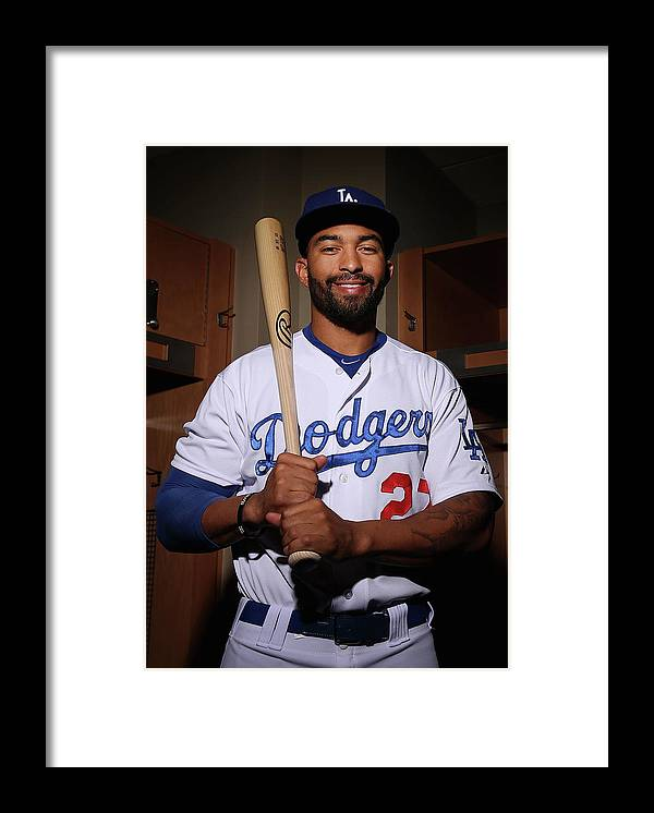 Media Day Framed Print featuring the photograph Matt Kemp by Christian Petersen