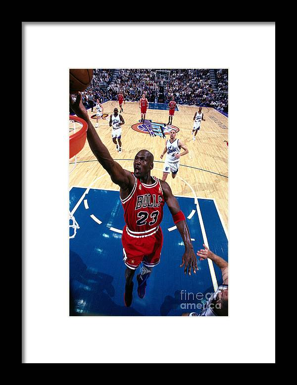 Chicago Bulls Framed Print featuring the photograph Michael Jordan by Andrew D. Bernstein