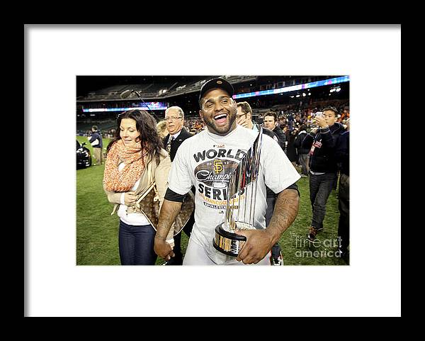 American League Baseball Framed Print featuring the photograph Pablo Sandoval by Ezra Shaw