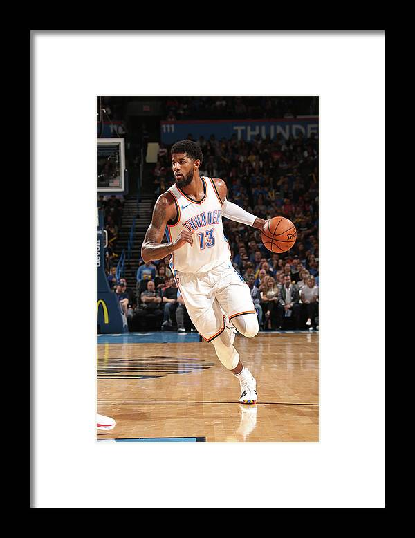 Sports Ball Framed Print featuring the photograph Paul George by Layne Murdoch