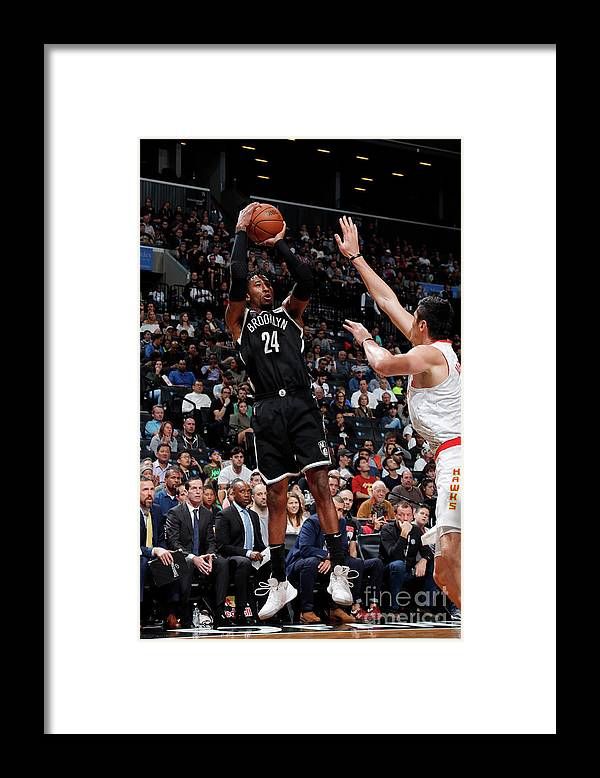 Nba Pro Basketball Framed Print featuring the photograph Rondae Hollis-jefferson by Nathaniel S. Butler