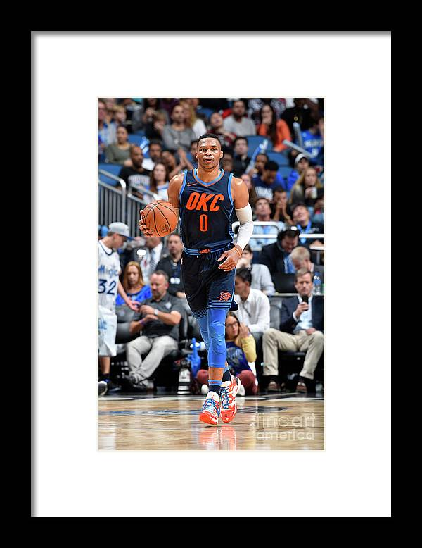 Nba Pro Basketball Framed Print featuring the photograph Russell Westbrook by Fernando Medina